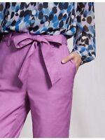 Boden Hose - Natalie Tie Pants - Damenhose mit Leinen Sommer NEU - UK 14 EU 42