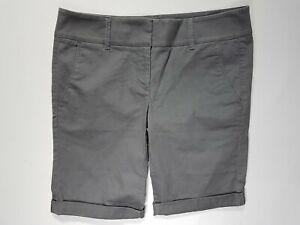 NEW Ann Taylor Loft 4 Gray Cuffed Marisa Casual Stretch Chino Shorts - NWT
