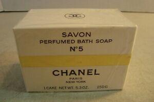 VTG CHANEL No. 5 Savon Perfumed Bath Soap 1 Cake 5.3 oz SEALED*
