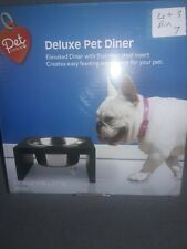Pet Central Deluxe Elevated Pet Diner Stainless Steel Bowl 800ml - 7.9 x7.9x 3.7