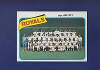 Kansas City Royals Team Checklist 1980 TOPPS Baseball #66 (MINT) Jim Frey