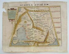 1542 PTOLEMY MAP of ARMENIA CAUCASUS BLACK SEA antique TABULA SARMATIA ASIATICA