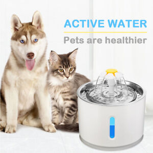 2.4L Automatic Electric Pet Water Fountain Cat/Dog Drinking Dispenser w/ Filter/