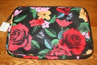 "Vera Bradley LIGHTEN UP LAPTOP SLEEVE in HAVANA ROSE case fits 13"" black red NEW"