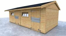 DOUBLE STABLE 24'x12' FIELD SHELTER HORSE STABLE FREE DELIVERY FREE INSTALLATION