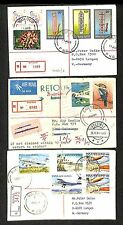 PAPUA NEW GUINEA 1981/90  3 x REG.CV =  BULOLO  =  DESTINATION!!  VF
