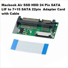 Macbook Air Ssd Hdd 24 Pin SATA volverá a 7+15 Sata Tarjeta Adaptadora 22pin con cable