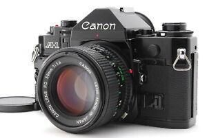 Near MINT/ Canon A-1 + New FD 50mm F1.4 SLR Film Camera from Japan #1419