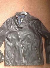 River Island Men's Faux Leather Zip Biker Coats & Jackets