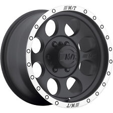 4 - 15x8 Black Wheel Mickey Thompson Classic Baja Lock 6x5.5 -22