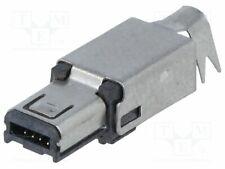 MUSB-W4P Plug - USB mini Hirose - soldering - PIN:4 - nickel plated - 500mA