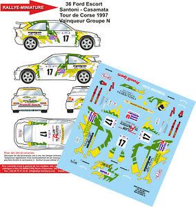 Decals 1/24 Ref 0036 Escort Cosworth Santoni Tour Of Corse 1997 Rally Rally WRC