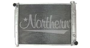 1970-73 Plymouth Barracuda Radiator (318ci, 340ci; passenger outlet; side tanks)