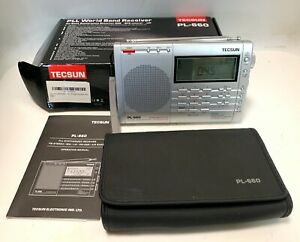 Tecsun PL660 AM FM SW Air SSB Synchronous Shortwave Radio - Silver......MINT