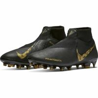 Nike Phantom VSN Elite DF FG Black Gold AO3262-077 Soccer Cleats Men's Size 10