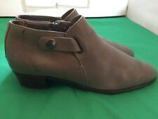 Vtg '70 disco booties western cowboy grey leather mens boots sz 9