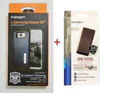 Spigen Slim Armor Metal Slate Case+TPU Screen Protector For Samsung Galaxy S8