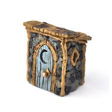 Miniature Dollhouse FAIRY GARDEN - Shingletown Outhouse - Accessories