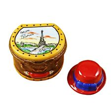 Rochard Limoges Paris Hat Box with Hat Trinket Box