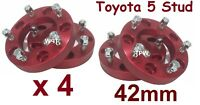 2 pairs 5 Stud Spacers 5/150 42mm for Toyota Landcruiser 100 105 200 76 78 79