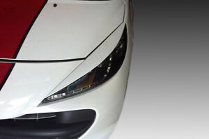 PEUGEOT 207 EYEBROWS HEADLIGHT COVER ABS PLASTIC