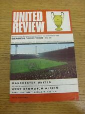 02/04/1969 Manchester United v West Bromwich Albion  (Creased, Worn Around Edges