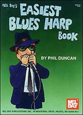 "MEL BAY'S ""EASIEST BLUES HARP BOOK"" HARMONICA MUSIC BOOK-BRAND NEW ON SALE!!"