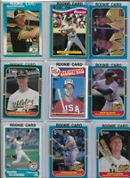 Mark McGwire A's Lot of (17) w/ (10) Rookies 1985 Topps #401 1987 Donruss #1 EX