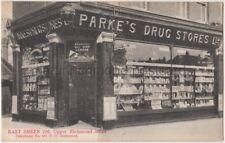 Parke's Drug Stores Shop 226 Upper Richmond Road East Sheen London Postcard B858