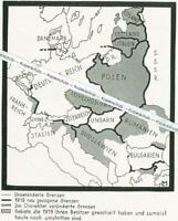 Das deutsche Reich - Übersichtskarte - um 1930    W 12-19