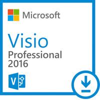 Microsoft Visio 2016 Professional Vollversion 32/64 bit Lizenz Key Code