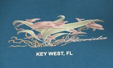 KEY WEST, FL - DOLPHINS - XL BLUE T-SHIRT- C1900