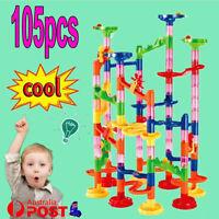 105Pcs Marble Run Race Construction Maze Ball Track DIY Building Block Kids Toys