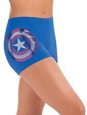 Gk Marvel Captain America Gym Shorts | Gymnastics Workout Yoga| Shield Cl