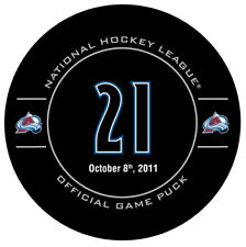 Colorado Avalanche PETER FORSBERG RETIREMENT OFFICIAL GAME PUCK 10.8.2011 RARE