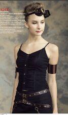 Rq-Bl steampunk vest black sz M