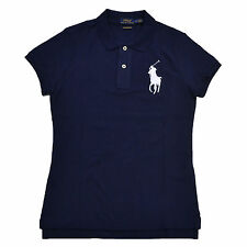 Polo Ralph Lauren Womens SKINNY Fit Big Pony Shirt - Choose Sz/color Navy X-small