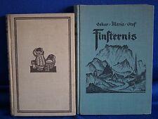 OSKAR MARIA GRAF zwei Erstausgaben Finsternis und Winkel des Lebens Originale!