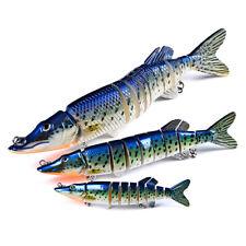 3pcs Swimbait Fishing Lures Multi Jointed Crankbaits Bait Plastic Swimming Lure