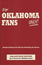 For OKLAHOMA FANS ONLY! Collector's Ed. Wonderful Stories OU Sooners Football