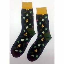 NWT Autumn Leaf Dress Socks Novelty Men 8-12 Brown Fun Sockfly