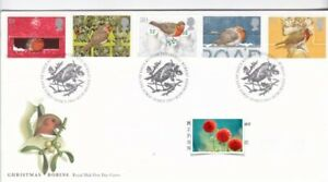 1995 Christmas, Robins,Bureau Cancellation, Excellent Condition,TYPED ADDRESS