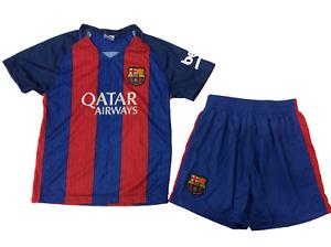 Soccer Fan Unbranded Barcelona Kids Football Soccer Jersey Set, Blue/Red, YM