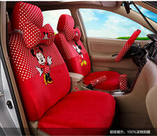 New Mickey Minnie Mouse Car Seat Covers Cushion Accessories Set 18PCS TL-5132
