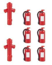 FALLER 180950 H0 Kit 6 Fire Extinguisher and 2 Hydrants