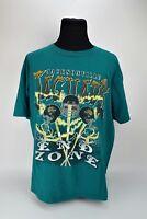 VTG 1995 Jacksonville Jaguars End Zone Teal Magic Johnston T's T-shirt Size 2XL
