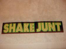 SHAKE JUNT ALL LIT UP SHAKE JUNT STRETCH LOGO LARGE SQUARE SKATEBOARD STICKER