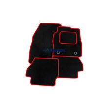 VW Polo passend (09 zugeschnittene schwarze Teppichmatten + Rosso rotem Rand