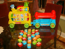 VTECH SIT TO STAND ALPHABET RIDE ON TRAIN 100% COMPLETE ~ EUC