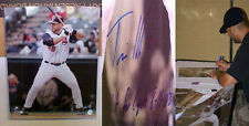 Travis Hafner Signed 16x20 Cleveland Indians w/Insc Hit for the cycle! COA HOLOG